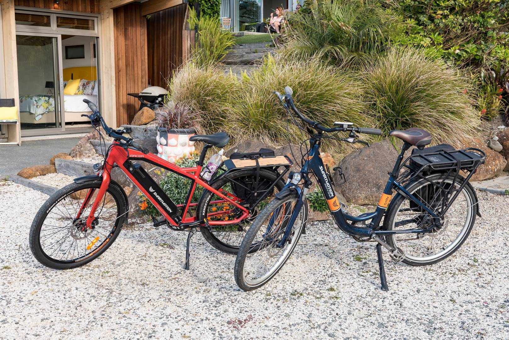 Bicycles at the Golden Sand beachfront accommodation